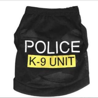 ドッグウエア M 犬 服 POLICE ポリス タンクトップ Tシャツ 警察犬
