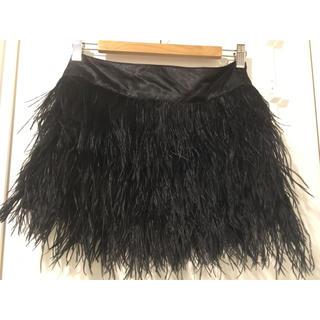 ドゥーズィエムクラス(DEUXIEME CLASSE)のフェザーミニスカート (ミニスカート)