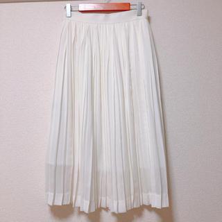 デミルクスビームス(Demi-Luxe BEAMS)のDemi-Luxe BEAMS プリーツスカート ホワイト(ひざ丈スカート)