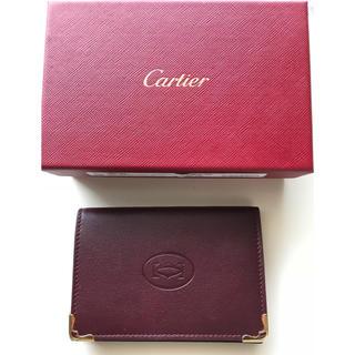 カルティエ(Cartier)の【新品】Cartier カルティエ レザー カードホルダー/名刺入れ(名刺入れ/定期入れ)