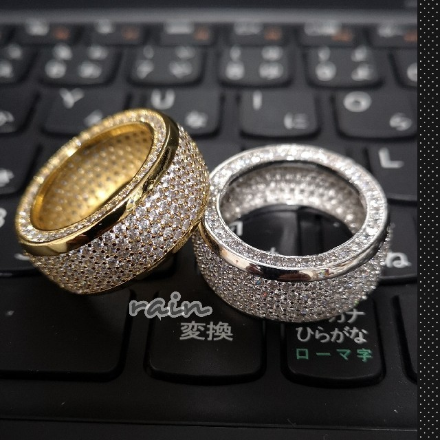 CZ パヴェ ブリンブリン リング ゴールド  メンズのアクセサリー(リング(指輪))の商品写真