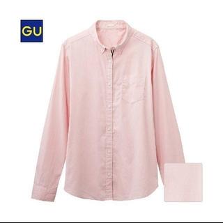 ジーユー(GU)のGU 長袖シャツ レディースSサイズ ピンク(シャツ/ブラウス(長袖/七分))