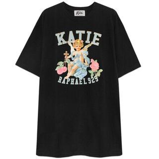 Katie - ANGEL big tee one-piece BLACK