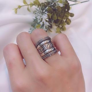 トゥデイフル(TODAYFUL)のsilver925 デザインシルバーリング 指輪 7号(リング(指輪))