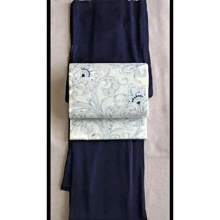 憧れのジャパンブルー藍染着物と袋帯(着物)