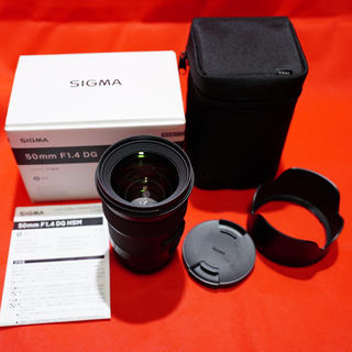 SIGMA - 【極美品】SIGMA 50mm F1.4 DG HSM ソニーEマウント Art