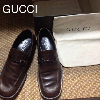 グッチ(Gucci)の正規品 GUCCI シューズ ブラウン 美品❤️42E 26.5センチ位の方に(ドレス/ビジネス)
