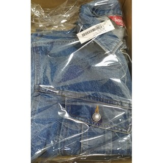 Supreme - New York Painted Trucker Jacket Blue M