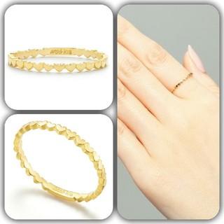 アーカー(AHKAH)のAHKAH アンハートエタニティリング 指輪 9号(リング(指輪))