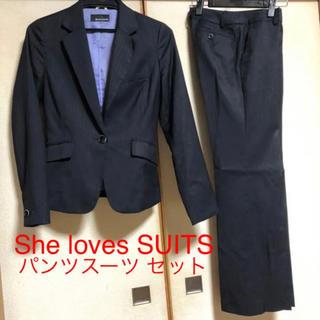即購入可!She loves SUITSパンツスーツ ストライプ 7号
