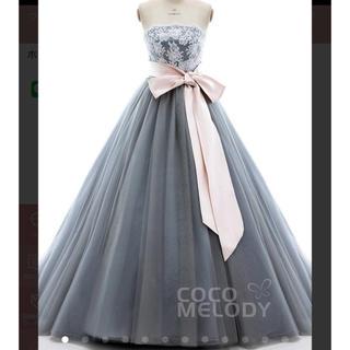 グレーカラードレス