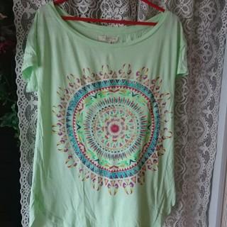 ザラ(ZARA)のRam様専用ザラ プリントTシャツ ライトグリーン ボタニカル(Tシャツ/カットソー(半袖/袖なし))