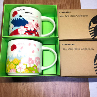 Starbucks Coffee - ☆期間限定☆スタバ マグカップ  日本 JAPAN マグカップ 2個セット