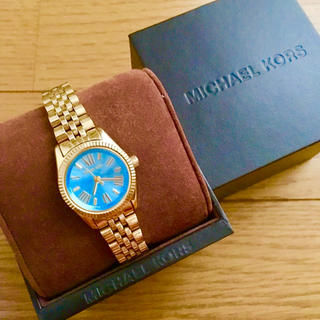 Michael Kors - 【大特価!!】LADIES MICHAEL KORS腕時計 ブルー×ゴールド🎀