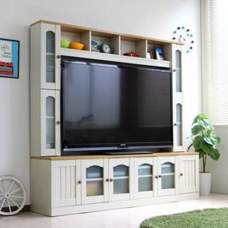 高品質!カントリー 壁面家具 リビング収納 60インチ対応 TV台 AVボード