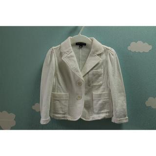 ラルフローレン(Ralph Lauren)のB091★ラルフローレン 子供服 女の子用 ジャケット白90セレモニー(ジャケット/上着)