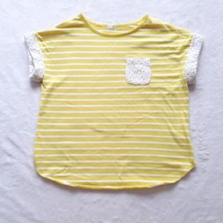 ジーユー(GU)のGU  キッズ カットソー 子供服 130(Tシャツ/カットソー)