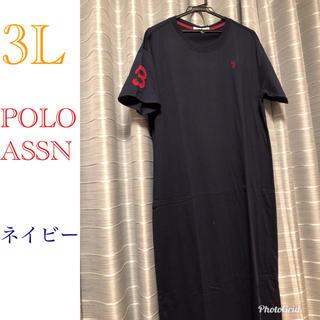 POLO Tシャツワンピース 大きいサイズ(ロングワンピース/マキシワンピース)