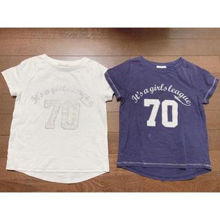 ジーユー(GU)のGU Girls Tシャツ2枚セット サイズ120(Tシャツ/カットソー)