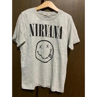 ジーユー(GU)のguキッズ  ニルヴァーナコラボtシャツ 130(Tシャツ/カットソー)