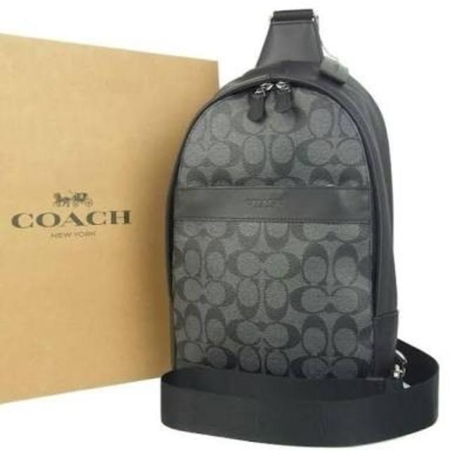 6ddfefcc1a29 COACH - 【COACH☆F54787】コーチ ショルダーボディバッグ黒シグネチャー ...