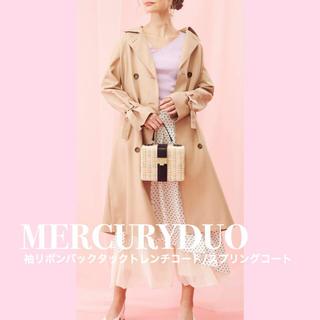 MERCURYDUO - MERCURYDUO  袖リボンバックタックトレンチコート/スプリングコート