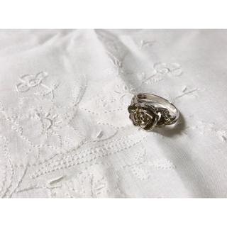 アッシュペーフランス(H.P.FRANCE)のvintage silver ring アンティーク フラワーモチーフ シルバー(リング(指輪))