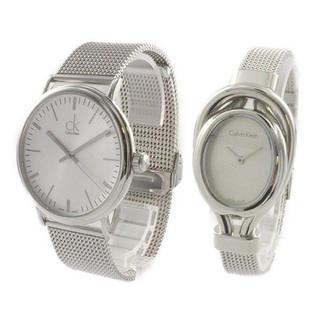カルバンクライン(Calvin Klein)の新品 CK ペア腕時計 シルバー メッシュ K3W21126K5H23126(腕時計(アナログ))