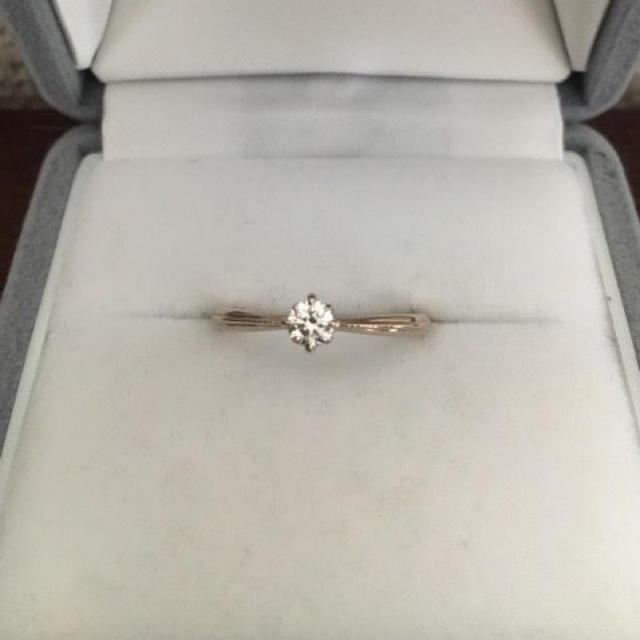 agete(アガット)のagete アガット ダイヤモンド リング K18PG 0.171ct 1.8g レディースのアクセサリー(リング(指輪))の商品写真