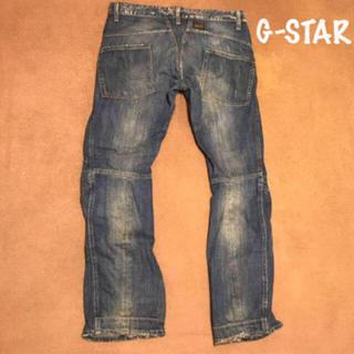 ジースター(G-STAR RAW)のG-STAR ライダース ジーンズ ダメージブルー O脚カット サイズ31 G-(デニム/ジーンズ)