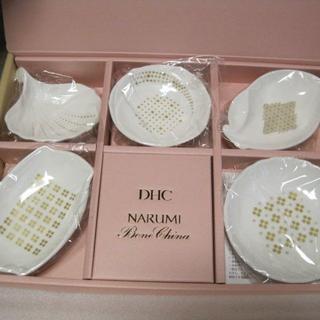 ディーエイチシー(DHC)のNARUMIナルミボーンチャイナ豆皿5枚セット【送料込みに変更可】(食器)