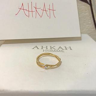 AHKAH - アーカー*ラブマジックリング*K18YGダイヤ*保証書付き