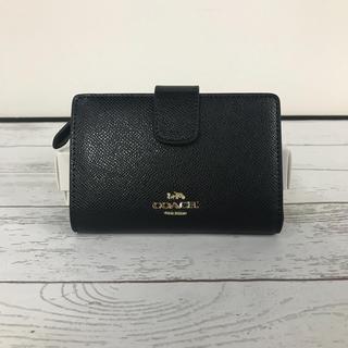 COACH - COACH コーチ上質レザー 二つ折り財布 F54010