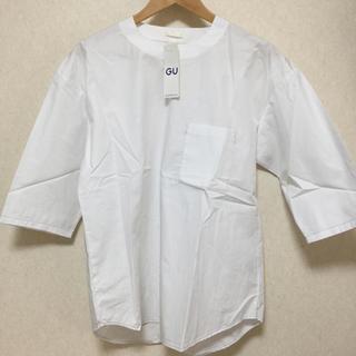 GU - GU ビッグプルオーバーシャツ 七分袖