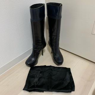 イヴサンローランボーテ(Yves Saint Laurent Beaute)のYves Saint- Laurent ロングブーツ 黒 サイズ 34 (ブーツ)