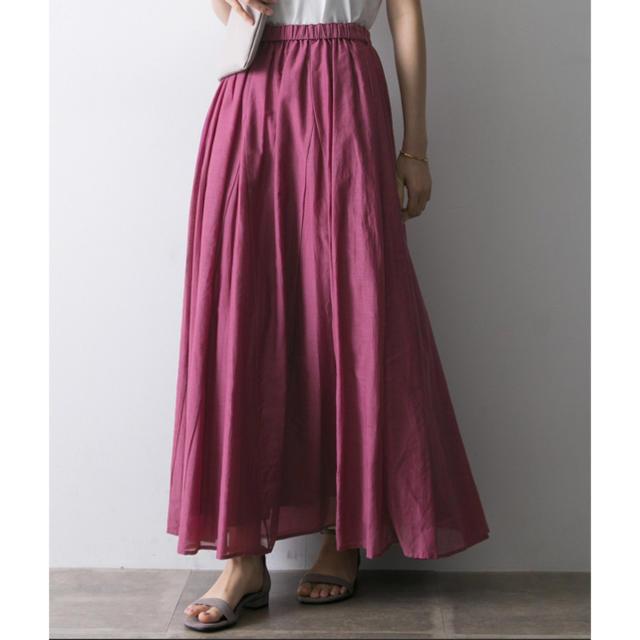 URBAN RESEARCH(アーバンリサーチ)のURBAN  RESERCHコットンシルクロングスカート レディースのスカート(ロングスカート)の商品写真