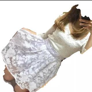 バイバイ(ByeBye)の値下げbyebyeパープルスカート★ダズリン スナイデル ミーア系(ミニスカート)