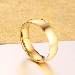 シンプルラウンドリング ゴールド 単品(リング(指輪))