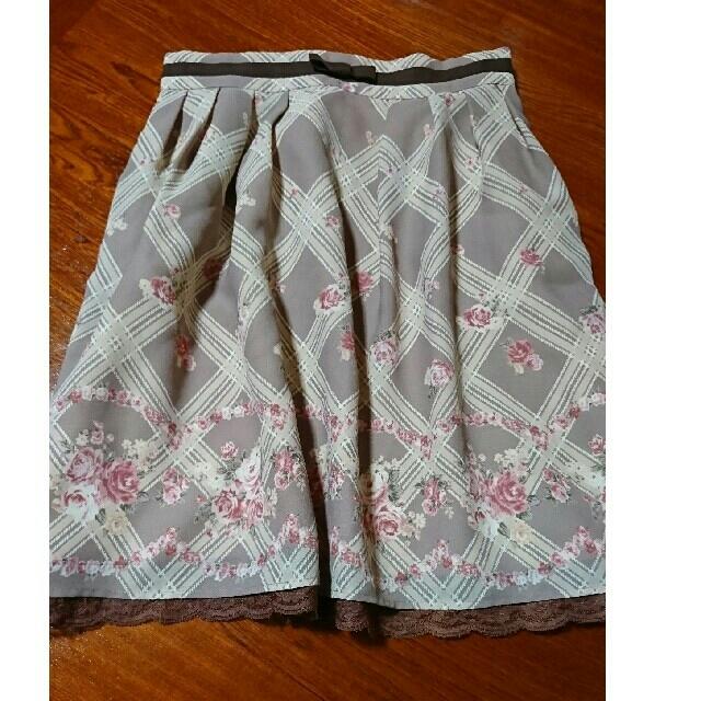 LODISPOTTO(ロディスポット)のチェック×花柄スカート レディースのスカート(ミニスカート)の商品写真