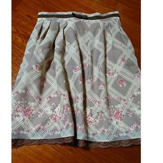 LODISPOTTO - チェック×花柄スカート