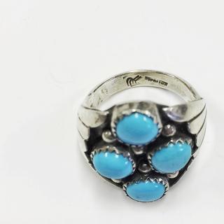 Zuni族 ネイティブインディアン ターコイズリング(リング(指輪))