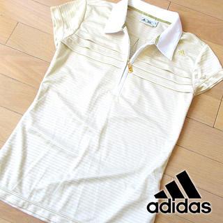 アディダス(adidas)の超美品 Sサイズ アディダス ゴルフ 半袖ポロシャツ ゴールド(ウエア)