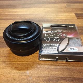 富士フイルム - FUJINON XF27mm F2.8 プロテクター付 フジフィルム