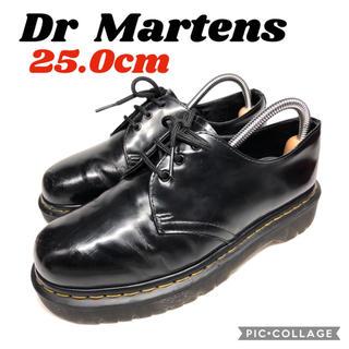 ドクターマーチン(Dr.Martens)の★靴紐新品★ドクターマーチン★3ホール★25.0cm★黒(ブーツ)