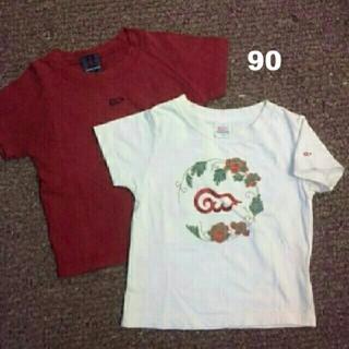 グローバルワーク(GLOBAL WORK)の90cm/global work/Tシャツ2枚set/男女兼用(Tシャツ/カットソー)