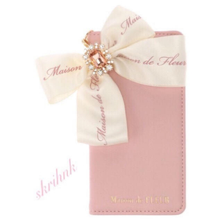 Maison de FLEUR - 限定♡メゾンドフルール♡ロゴリボンiPhoneX/iPhoneXSケース♡ピンク