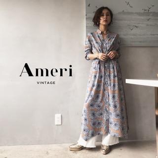 Ameri VINTAGE - 19SS 新品 Ameri TIE SHIRT DRESS【ベージュ】未使用