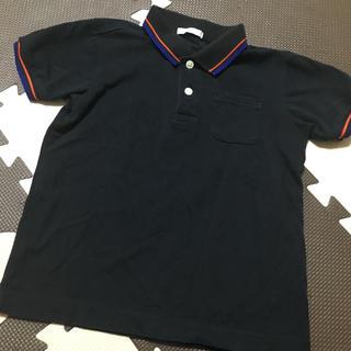 ジーユー(GU)の未使用に近い 130ポロシャツ 黒(Tシャツ/カットソー)