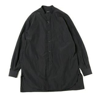 COMOLI - 19SS 新品 COMOLI バンドカラーシャツ 黒 サイズ3 コモリ シャツ