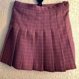韓国で購入 / ピンクチェック柄 テニススカート